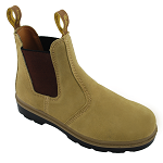 Tan Elastic-Sided Workboot