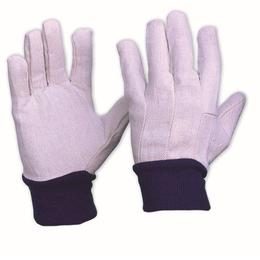 Cotton Drill Gloves with Knitted Wrist (CDB-10)