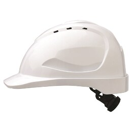 Hard Hat (Vented) Ratchet Harness White (HHV9R)
