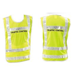 """Traffic Control"" Adjustable Vest / Poncho with Reflective Tape"