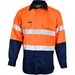 HiVis Long Sleeve 2 Tone Lightweight Reflective Shirt (2013-ON)
