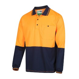 Long Sleeve 2 Tone Poly Cotton Polo Shirt (5004-ON)