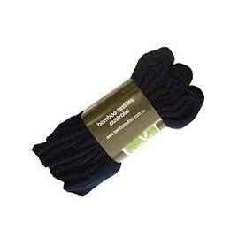 3 Pack (10-14) BAMBOO Extra Thick Work Socks, Black