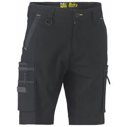 BISLEY BSHC1330 FLX & MOVE Stretch Cargo Shorts, Black