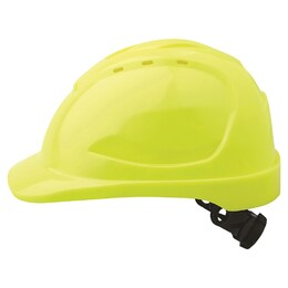 Hard Hat (Vented) Ratchet Harness Yellow (HHV9R-FY)