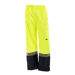 2XL - WORKIT 1305 Wet Weather 'Reflective' Rain Pants - Yellow/Navy - 2XL
