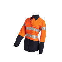 Ladies HiVis 2-Tone Lightweight Long Sleeve Reflective Shirt - 16