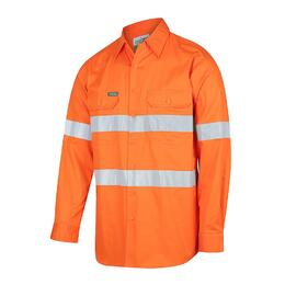 WORKIT 2013O - 155gsm Lightweight Long Sleeve Orange Taped