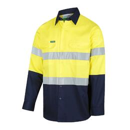 WORKIT HiVis Long Sleeve 2 Tone Lightweight Reflective Shirt (2013-YN)