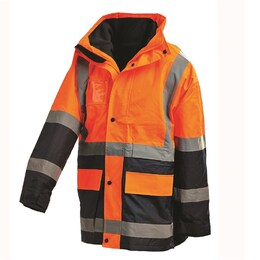 5-in-1 WORKIT HiVis 2 Tone Wet Weather Jacket (3004)