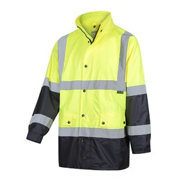 WORKIT Rain Jacket Yellow/Navy Taped (3005)