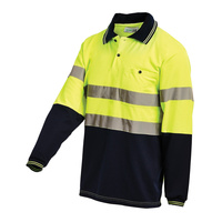 WORKIT Long Sleeve 2 Tone Poly Cotton Reflective Polo Shirt (5004T-YN)