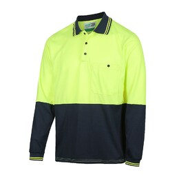 WORKIT 5004YN Polo - Long Sleeve 2 Tone Poly Cotton Shirt