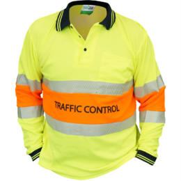 WORKIT Traffic Control Long Sleeve Biomotion Polo Shirt (5004TC-YO)