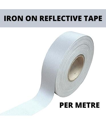 50mm wide Iron on Reflective Tape