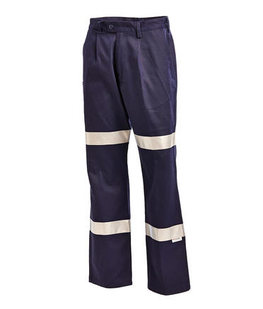 WORKIT 1011N Cotton Drill Bio-Motion Double-Taped Reflective Pants