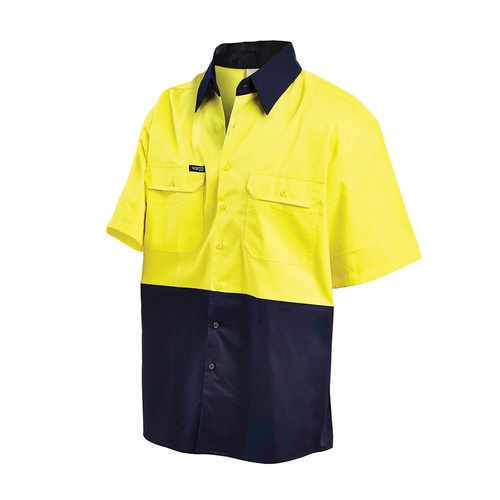 WORKIT 2008 Short Sleeve 2 Tone Lightweight Shirt (2008-YN)